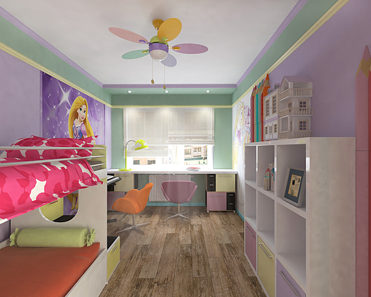 Cuartos infantiles de estilo minimalista de студия Виталии Романовской Minimalista