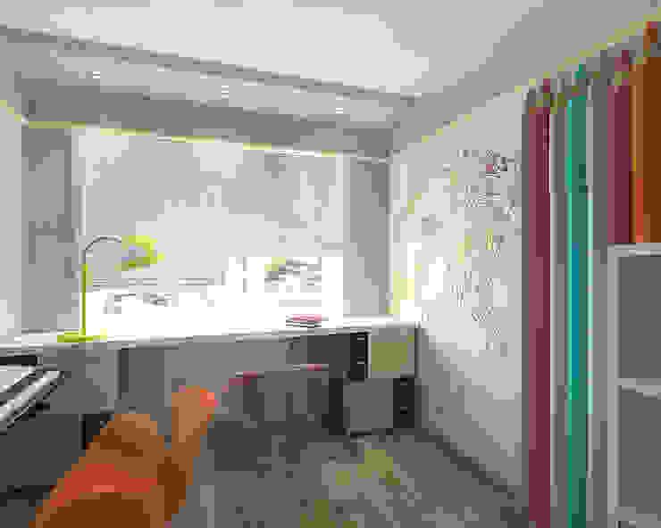 Dormitorios infantiles minimalistas de студия Виталии Романовской Minimalista
