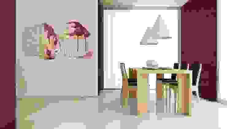 モダンデザインの ダイニング の Murales Divinos モダン