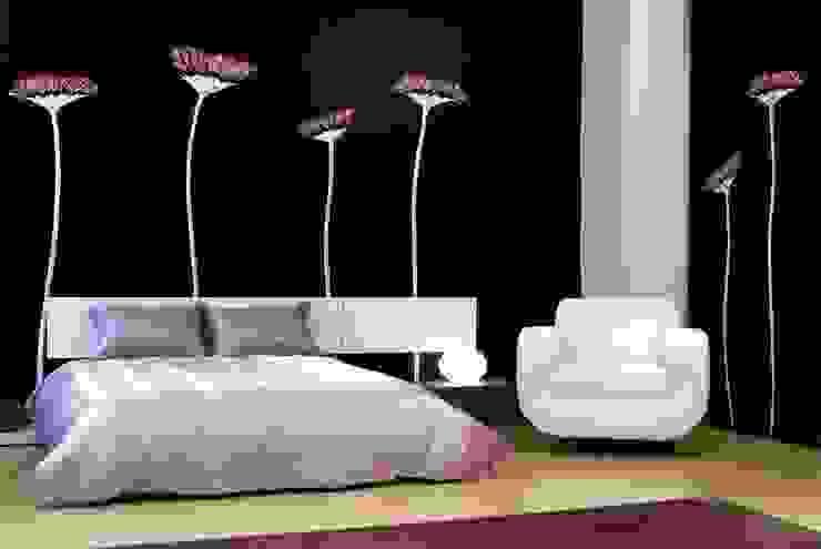 Flores lilas Dormitorios de estilo moderno de Murales Divinos Moderno