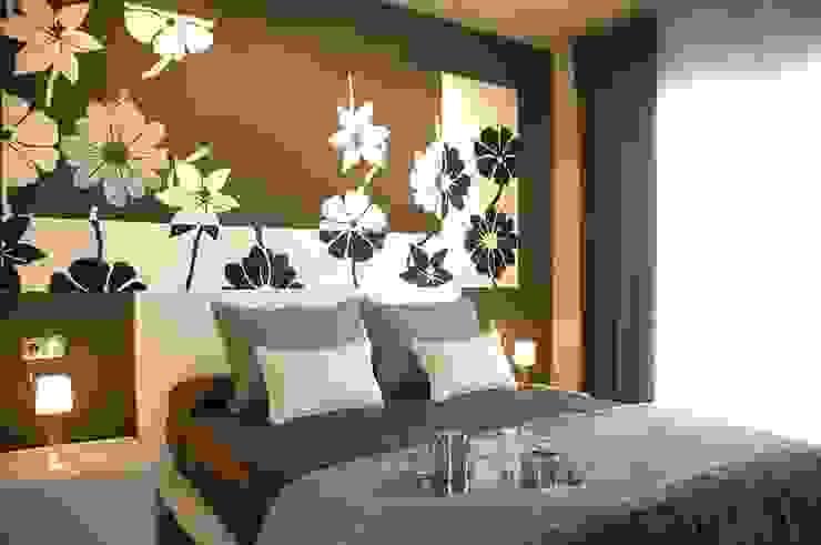 モダンスタイルの寝室 の Murales Divinos モダン