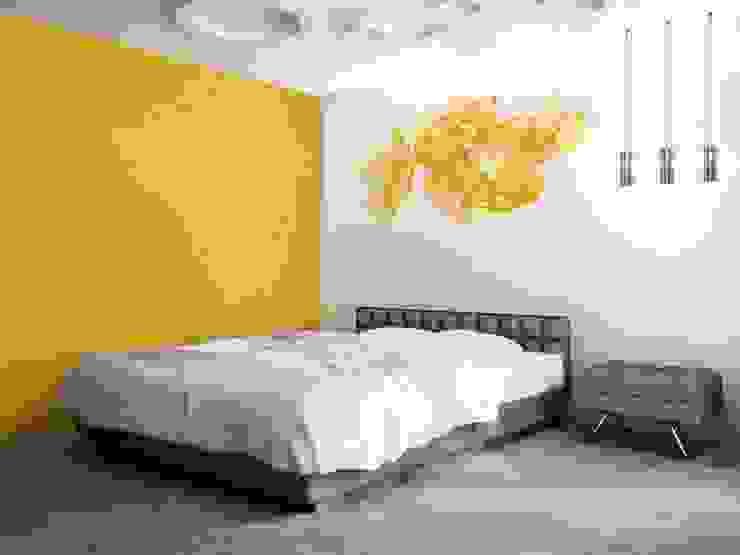 Amapolas amarillas Dormitorios de estilo moderno de Murales Divinos Moderno