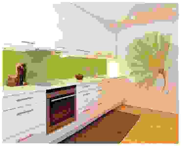 現代廚房設計點子、靈感&圖片 根據 Murales Divinos 現代風