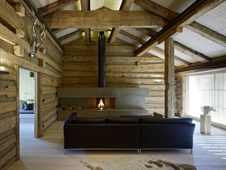 Living room by HAMMERER ztgmbh . architekten, Country