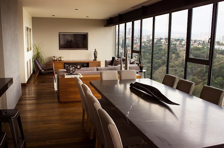 Modern dining room by Concepto Taller de Arquitectura Modern