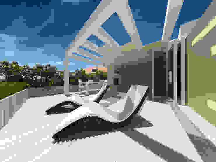 Balcones y terrazas de estilo minimalista de giovanni marongiu _ GMAvisual Minimalista