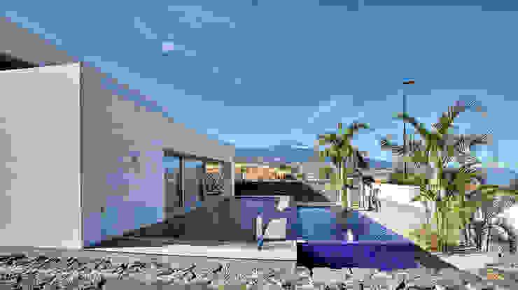 Vista exterior 04: Casas unifamilares de estilo  de CORREA + ESTEVEZ ARQUITECTURA, Moderno