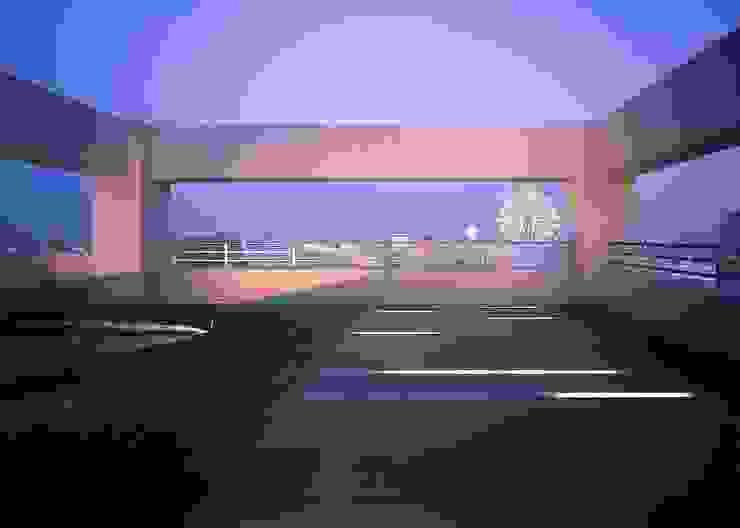 桜島をのぞむ住宅 モダンな庭 の ISDアーキテクト/一級建築士事務所 モダン