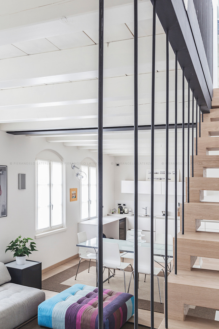 Pierangelo Laterza Couloir, entrée, escaliers minimalistes