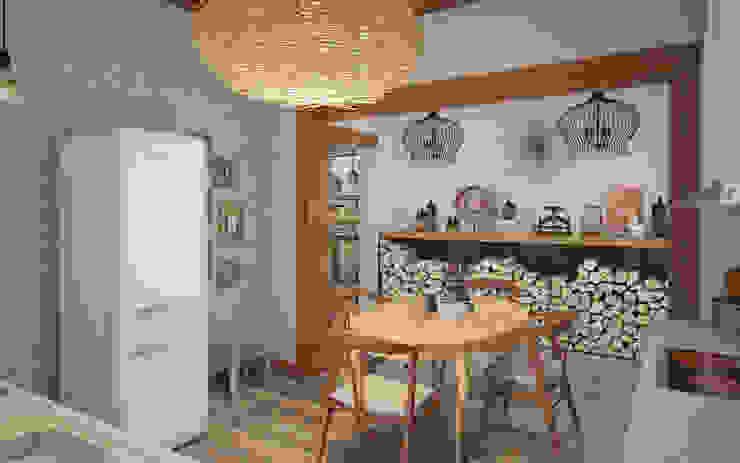 Шале Столовая комната в средиземноморском стиле от room4life Средиземноморский