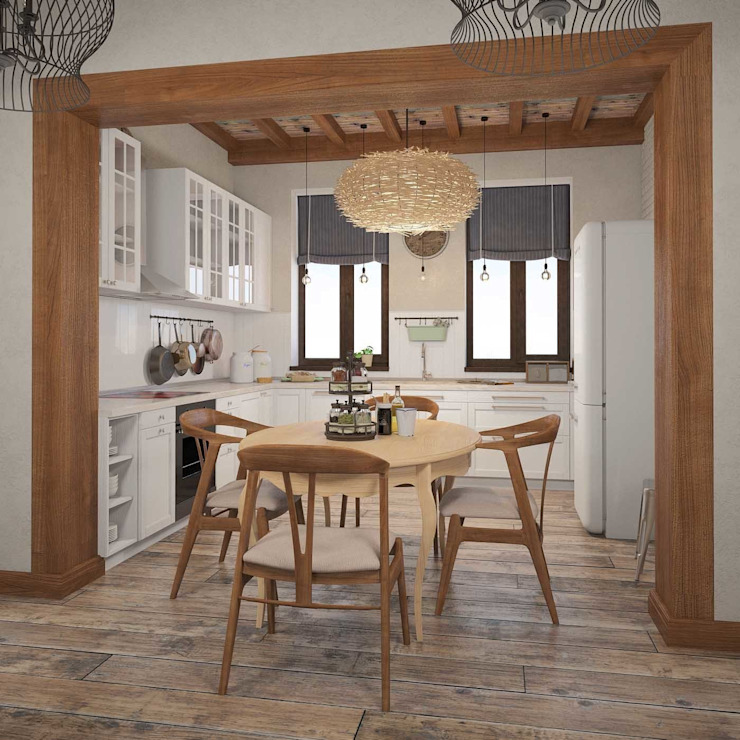Шале Кухня в средиземноморском стиле от room4life Средиземноморский