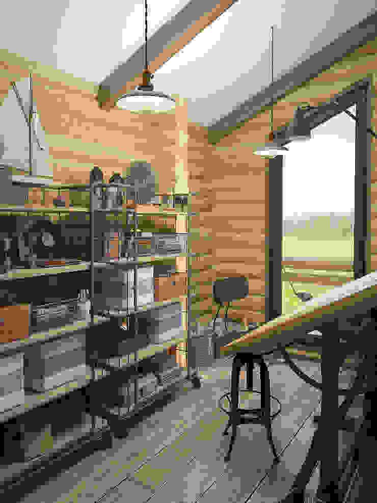 Шале Рабочий кабинет в средиземноморском стиле от room4life Средиземноморский