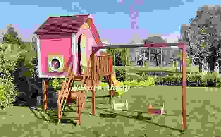Tarçın Oyun Evi - Yan Görünüş Modern Bahçe Sakura Ahşap Modern