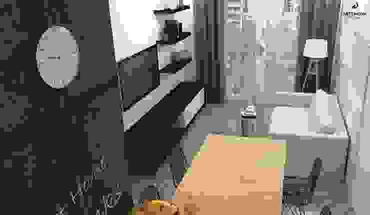 Mieszkanie Warszawa Minimalistyczny salon od Artenova Design Minimalistyczny