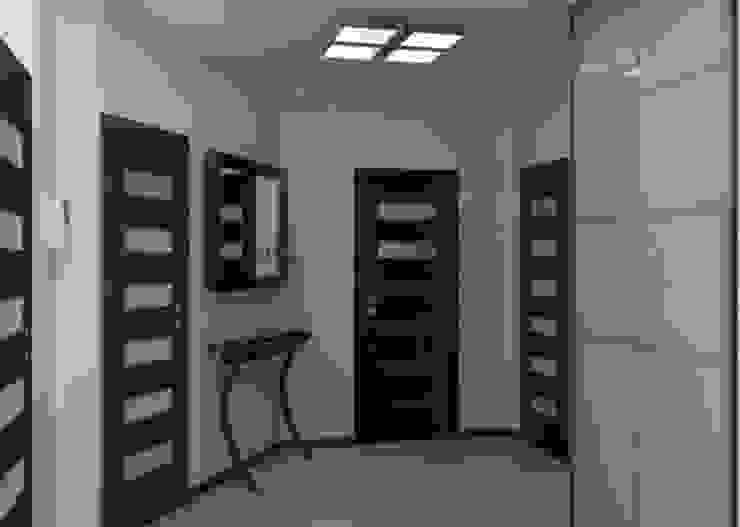 Projekt domu Nowoczesny korytarz, przedpokój i schody od Artenova Design Nowoczesny