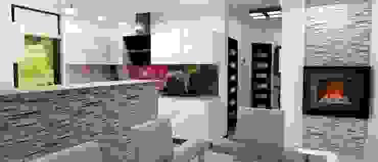 Projekt domu Nowoczesna kuchnia od Artenova Design Nowoczesny