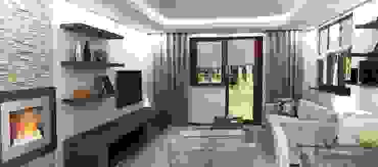 Projekt domu Nowoczesny salon od Artenova Design Nowoczesny