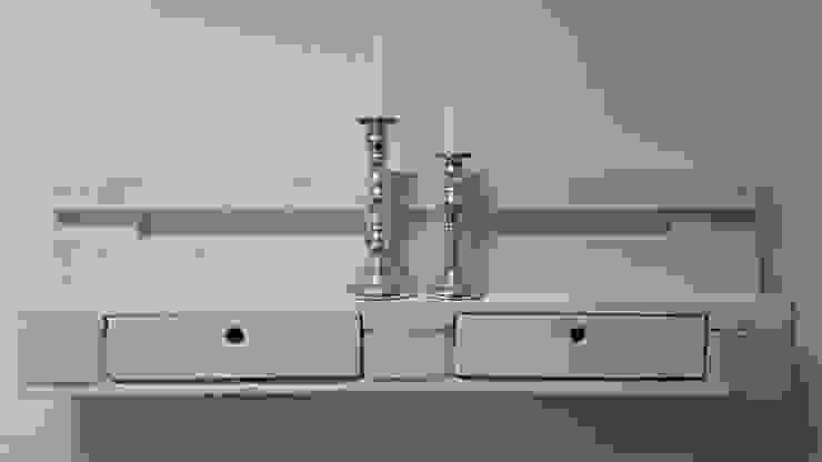 """Palettenmöbel - Regal - No.-01 """"Weiß"""": modern  von starg,Modern"""