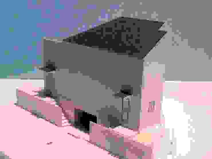 模型(道路側) モダンな 家 の OSM建築設計事務所 モダン
