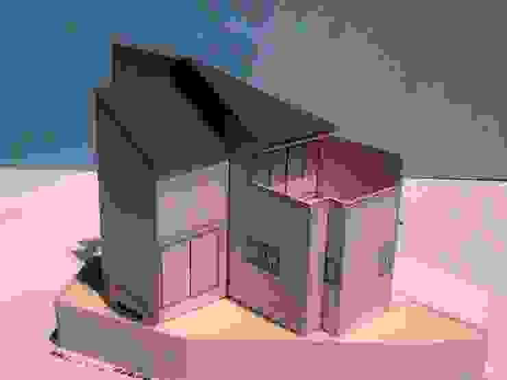 模型(隣地側) モダンな 家 の OSM建築設計事務所 モダン