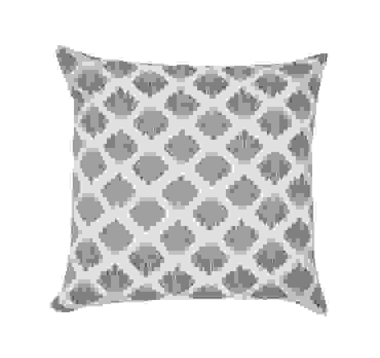 Petal Printed Cushion in Grey, 40x40cm Nitin Goyal London BedroomTextiles