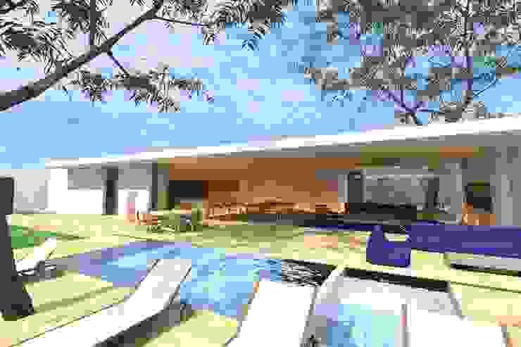 CASA GH Casas modernas de ZENDEJAS ARQUITECTOS Moderno
