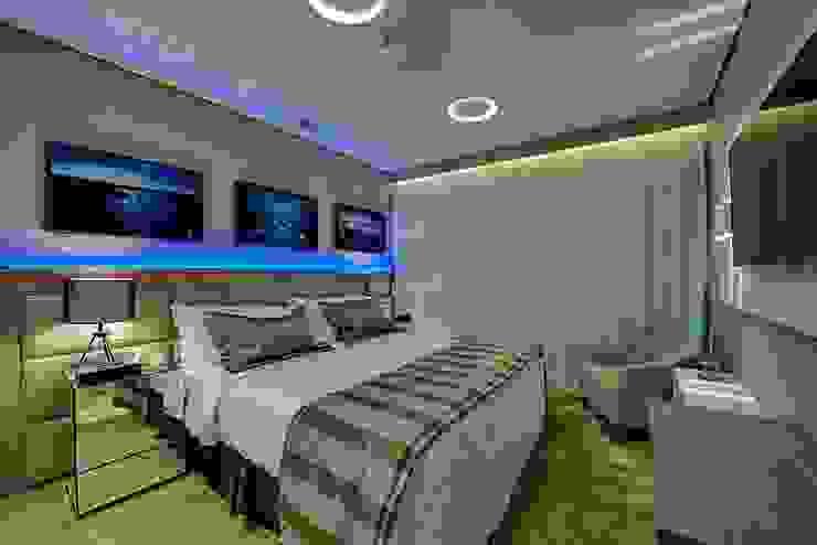 Guido Iluminação e Design Nowoczesna sypialnia