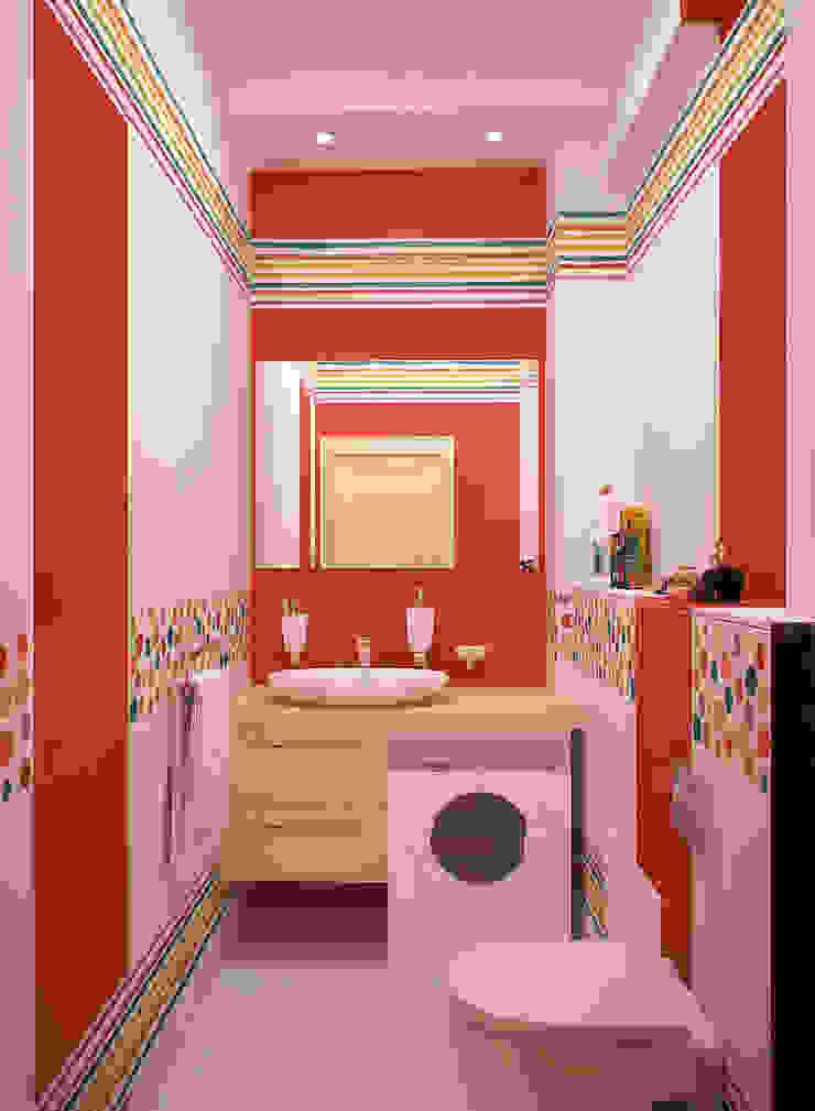 Летнее настроение для ванной Ванная комната в стиле модерн от Студия дизайна Interior Design IDEAS Модерн
