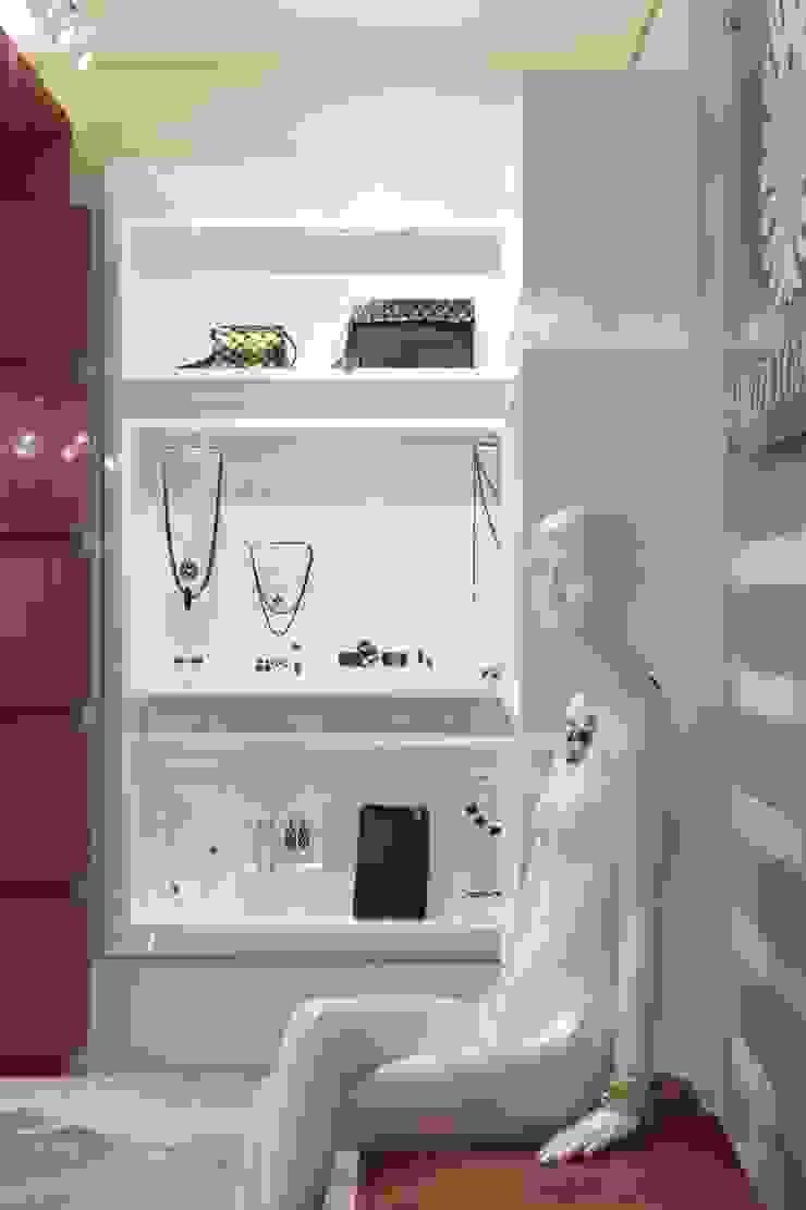 JOALHERIA DESIGN - CASA COR SP 2015 - BRASIL - Painéis estantes para expôr as joias Lojas & Imóveis comerciais modernos por Adriana Scartaris: Design e Interiores em São Paulo Moderno