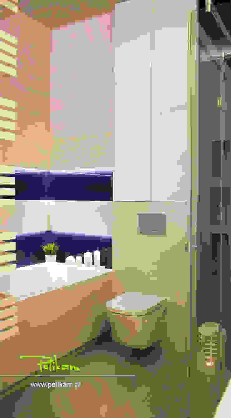 Mieszkanie w Warszawie Nowoczesna łazienka od PELIKAM Nowoczesny