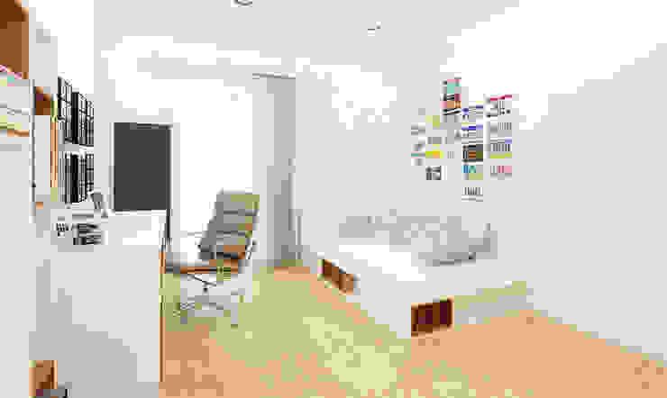 Projekt mieszkania 118m2 w Villa lux w Dąbrowie Górniczej Skandynawski pokój dziecięcy od Ale design Grzegorz Grzywacz Skandynawski