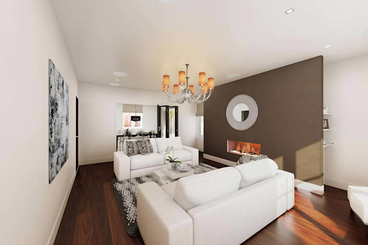 Mornington Road Modern living room by Clear Architects Modern