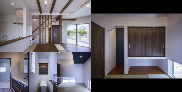 Eclectic style houses by Studio REI 一級建築士事務所 Eclectic