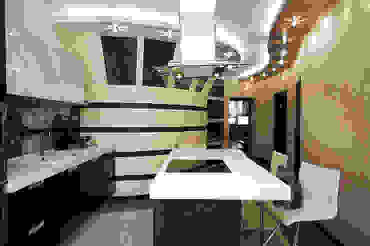 "Дизайн квартиры ""Домашний уют"" Кухня в стиле минимализм от Samarina projects Минимализм"