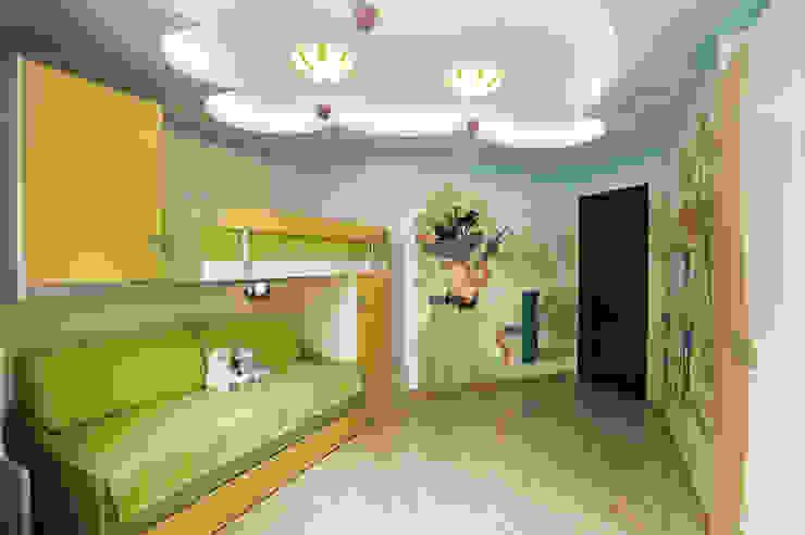 """Дизайн квартиры """"Интерьер для молодой семьи"""" Детская комнатa в стиле минимализм от Samarina projects Минимализм"""
