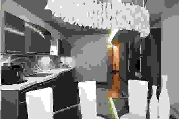 """Дизайн квартиры """"Интерьер для молодой семьи"""" Кухня в стиле минимализм от Samarina projects Минимализм"""