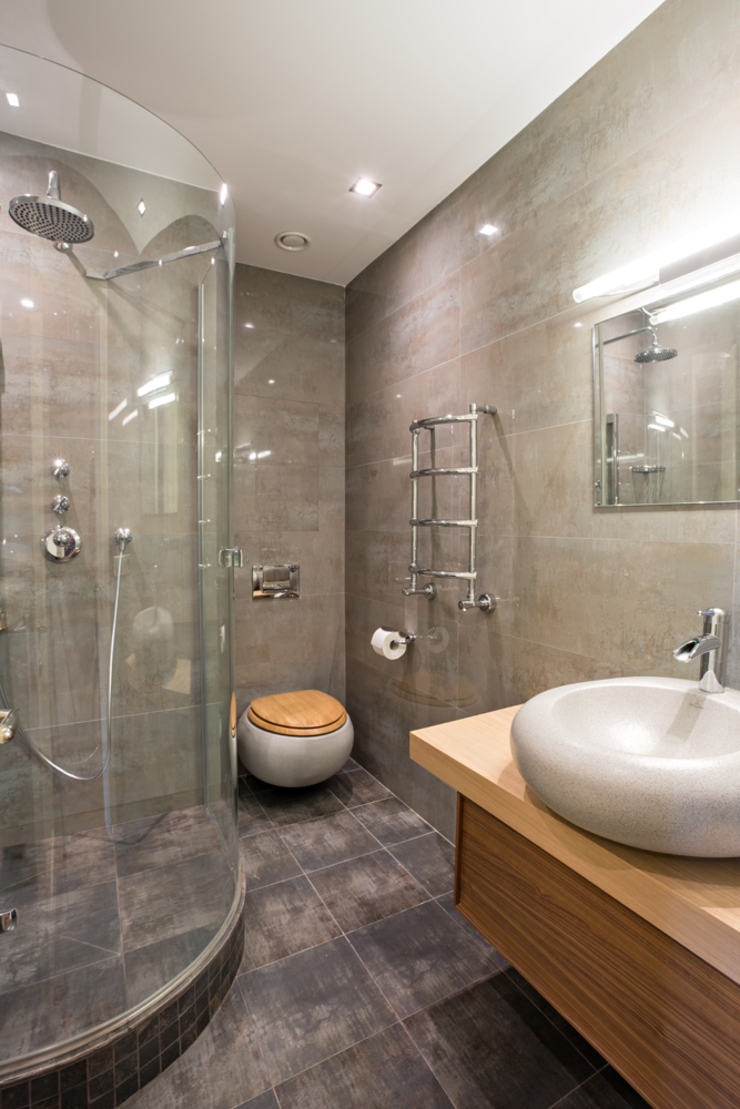 Квартира на Ломоносовском Ванная в азиатском стиле от Надежда Каппер Азиатский