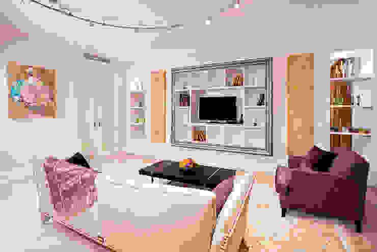 Квартира на Мичуринском Гостиные в эклектичном стиле от Надежда Каппер Эклектичный