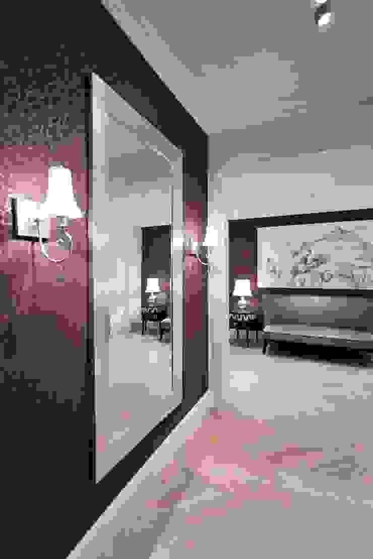 Квартира на Мичуринском Коридор, прихожая и лестница в эклектичном стиле от Надежда Каппер Эклектичный