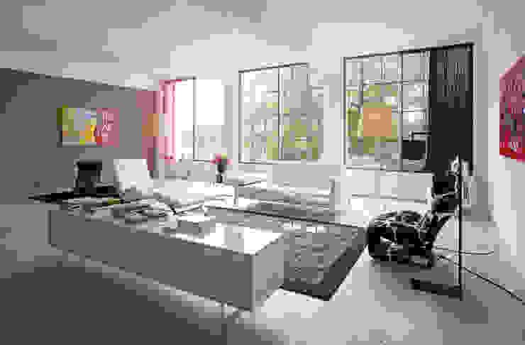Livings de estilo industrial de IAA Architecten Industrial