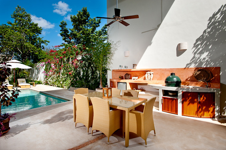 Taller Estilo Arquitectura Modern style balcony, porch & terrace