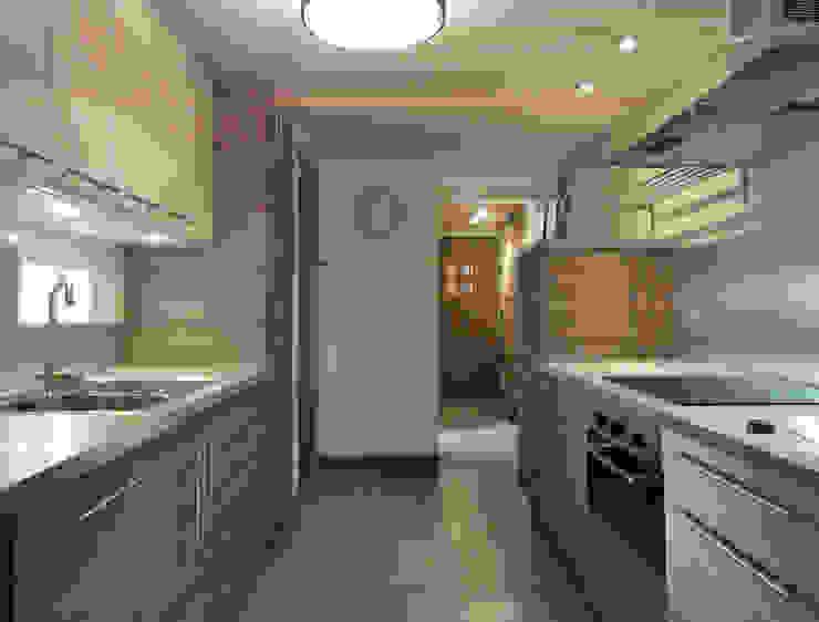 現代廚房設計點子、靈感&圖片 根據 CosyNEVE (Amandine REVEL) 現代風