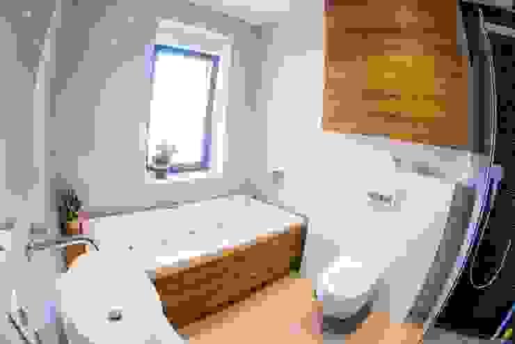 Wnętrze domu w Wieluniu Nowoczesna łazienka od Projektowanie wnętrz Berenika Szewczyk Nowoczesny