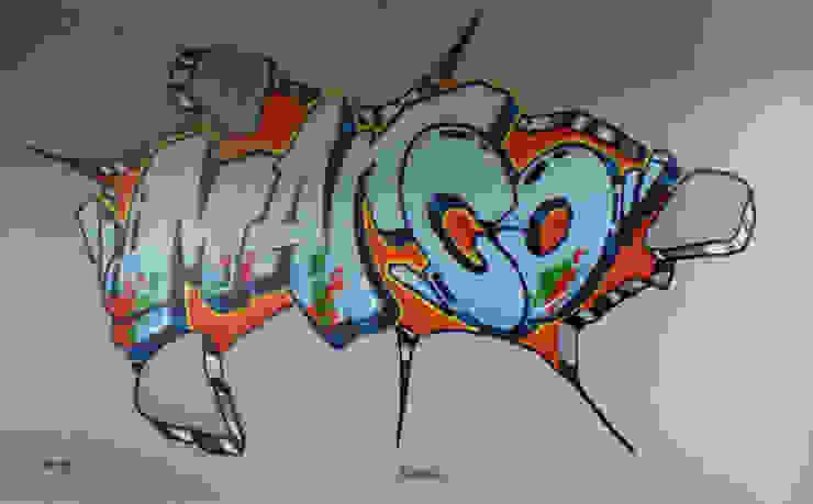 Graffiti slaapkamer Marco: modern  door Mooie graffiti, Modern