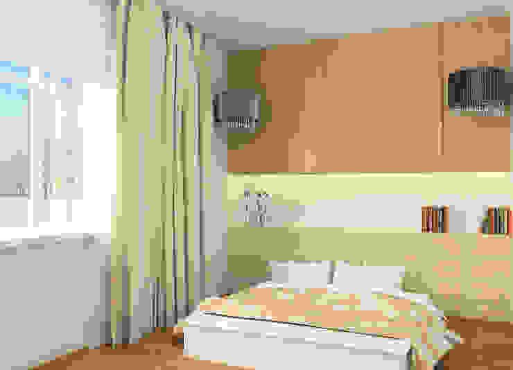 Projekt wnętrza domu w Łodzi Nowoczesna sypialnia od Projektowanie wnętrz Berenika Szewczyk Nowoczesny