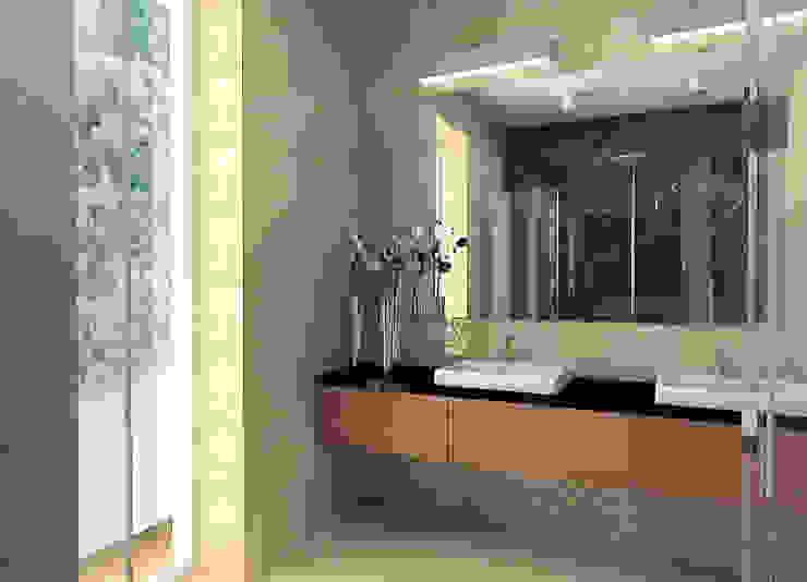 Projekt wnętrza domu w Łodzi Nowoczesna łazienka od Projektowanie wnętrz Berenika Szewczyk Nowoczesny