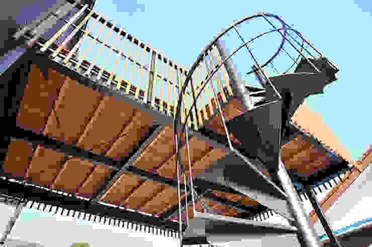 大空間のウッドデッキはプライベートパーク モダンデザインの テラス の 株式会社ビルドアート モダン