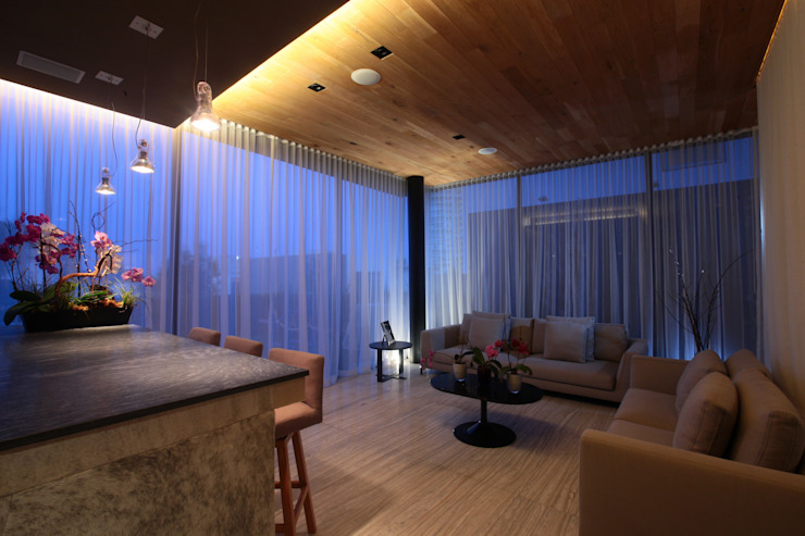 Estar Principal Salones modernos de Código Z Arquitectos Moderno