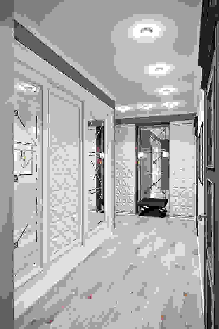 легкая классика Коридор, прихожая и лестница в классическом стиле от Арт-мастерская 'РЕПЛИКА' Классический