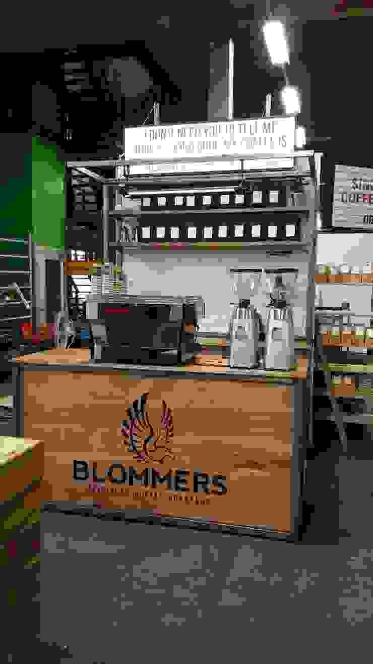 Beursstand Blommer coffee roasters Industriële evenementenlocaties van Samosa 'Ontwerp op Maat' Industrieel
